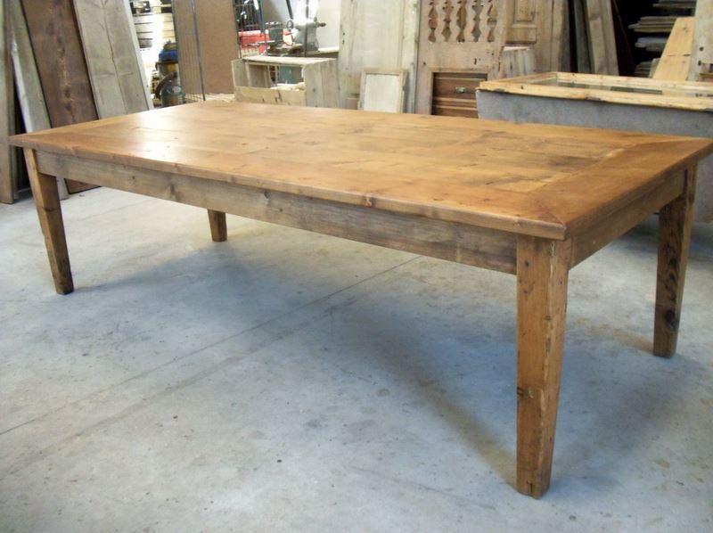 Mobilia di nostra produzione con legno d 39 epoca - Tavoli in legno vecchio ...
